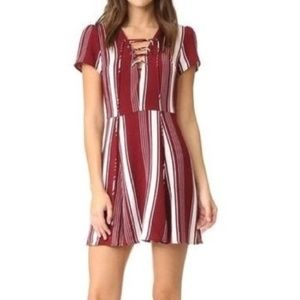 REVOLVE | Lovers + Friends Lace-up Dress- Cabernet